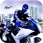 amazing police Spider -rundown city bike chase icon