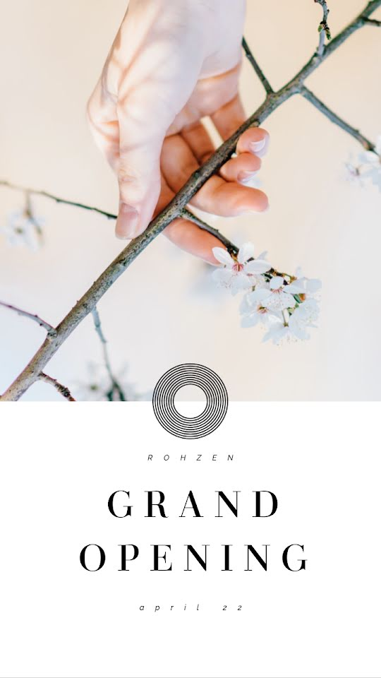 Rohzen Grand Opening - Facebook Story Template