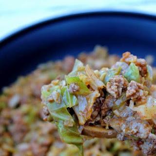 """Turkey Taco"" Cabbage Skillet Recipe"