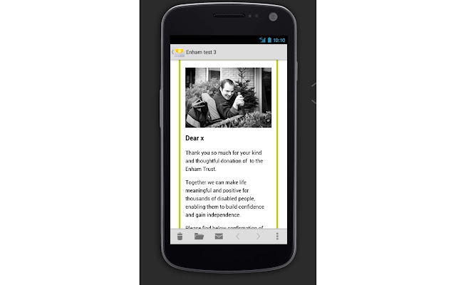 Mobile Emails for NetCommunity
