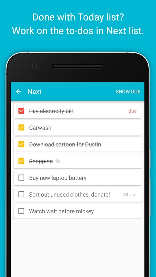 Do: A to-do List based on GTD©- screenshot