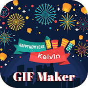 Happy New Year Text Editor on GIF icon