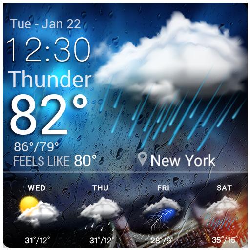 Clock&Weather Widget for Free