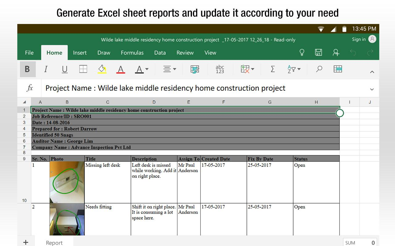 SnagBricks - Site Auditing, Snagging & Punch List- screenshot