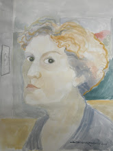 Photo: August, 2011. Self-portrait watercolor on paper.