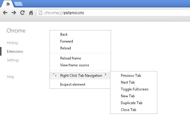 Right Click Tab Navigation