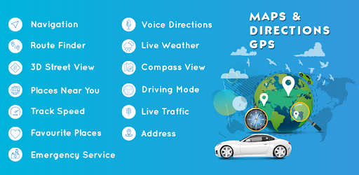Find Directions worldwide using GPS, Maps, Voice Navigation & Directions finder