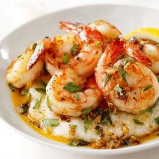 Lemon-Garlic Shrimp and Grits