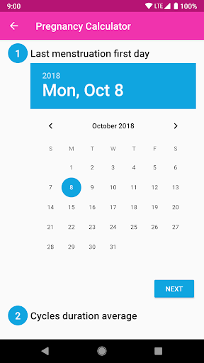 Pregnancy Calculator and Calendar 1.0.1 screenshots 2