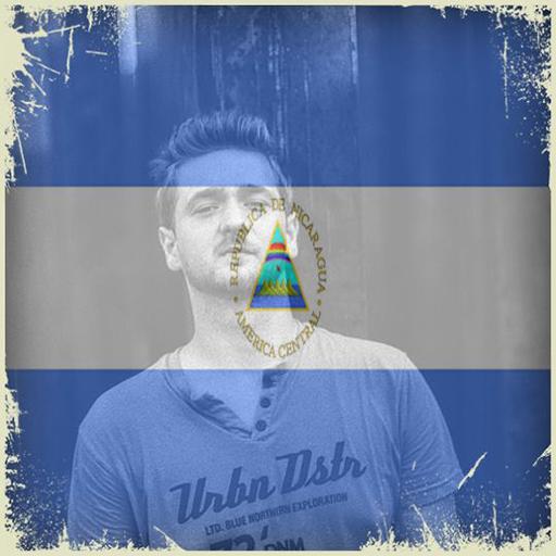 Nicaragua Flag On Face Maker : Photo Editor