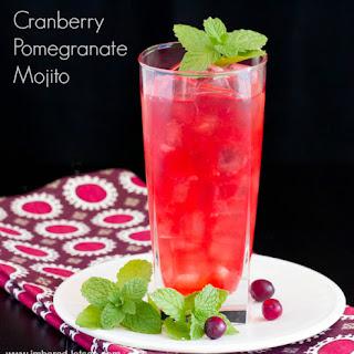 Holiday Cranberry Pomegranate Mojito