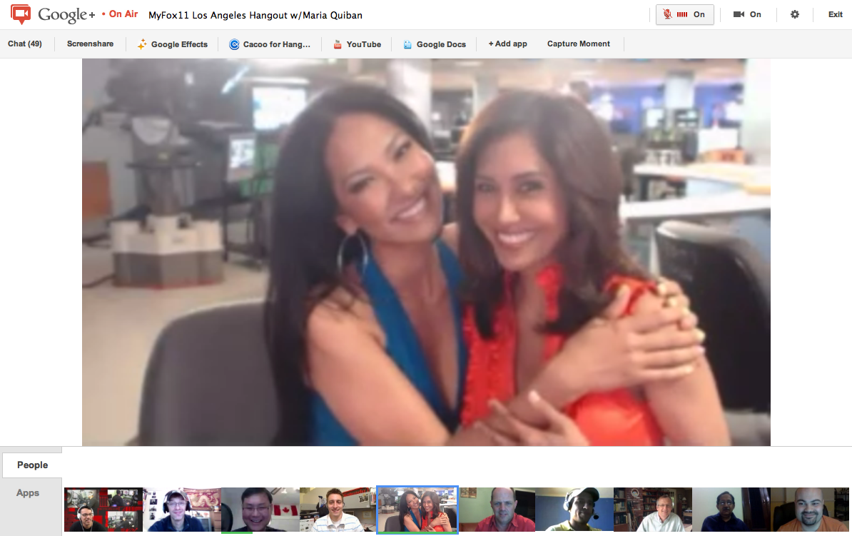Photo: Kimora Lee Simmons and +Maria Quiban at +myFOXla / FOX Los Angeles #awesome Google+ Hangout. Kimora is so charming and full of energy, definitely one of the hardest working spokesperson I've seen for any products!