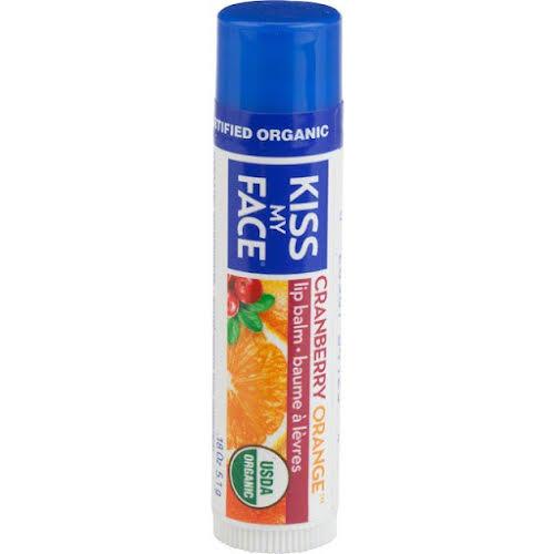 Kiss My Face Organic Lip Balm: Cranberry Orange