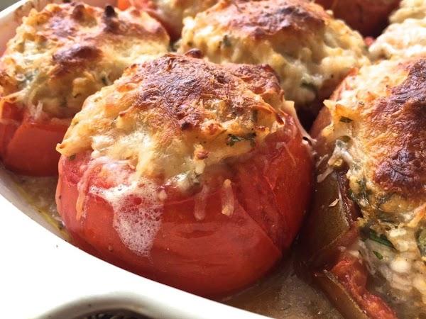 Tomatoes Stuffed W/squash (sallye) Recipe
