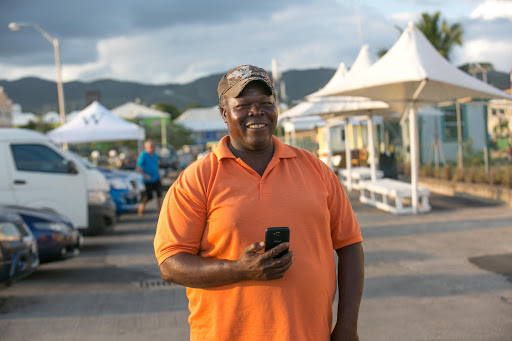 "marvin-taxi-driver-st-kitts.jpg - JD Lasica: ""We met Marvin, a personable taxi driver, and arranged for him to give us a daylong tour of St. Kitts."""
