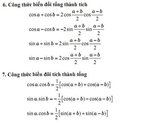 Phương pháp nhớ công thức lượng giác biến đổi tổng thành tích hiệu quả