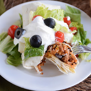 Turkey and Brown Rice Taco Burritos Recipe