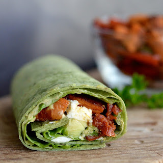 Balsamic Roasted Vegetable Wrap.