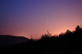 Photo: Stars at dusk Quarry Rock Camp Toccoa