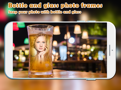 Bottle And Glass Photo Frames