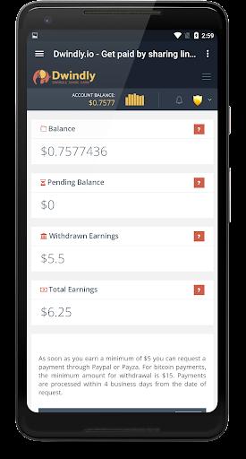 Dwindly.io - Earn Money By Sharing Links! 1.1 screenshots 5