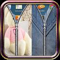 Teddy Bear & Jeans Zipper Lock icon
