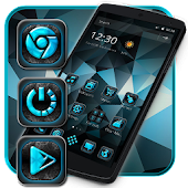 Material Blue Ice Launcher Theme