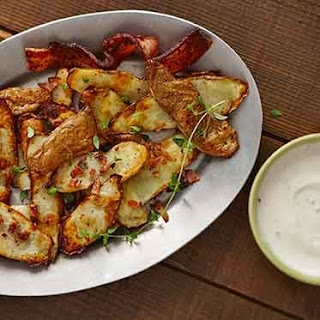 Potato Skin Chips with Ranch and Crispy Bacon