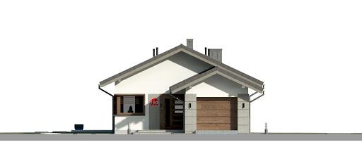 Dom przy Pastelowej 16 D - Elewacja przednia