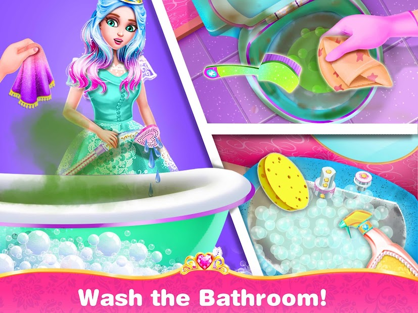 Princess Home Cleaning – House Clean Games screenshot 3