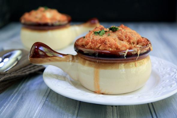 Buffalo Blue Cheese Quinoa and Cauliflower Bake Recipe