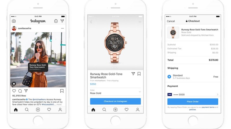 how to utilize instagram shopping. instagram shopping example
