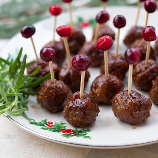 Tiny All Beef Cocktail Meatballs Simmered In An Easy Cranberry Barbecue Sauce Are The Perfect Holiday Appetizer!.