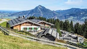 Weltcup Hütte Grüntenblick Ofterschwang Ofterschwanger Horn Gunzesried Naturpark Nagelfluhkette Allgäu