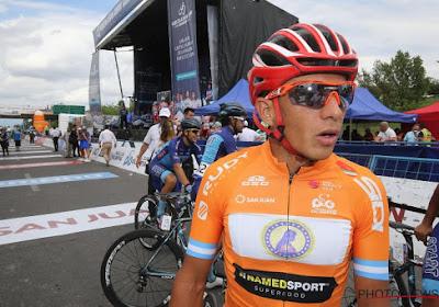 Bergkoning van de Ronde van San Juan loopt tegen de dopinglamp
