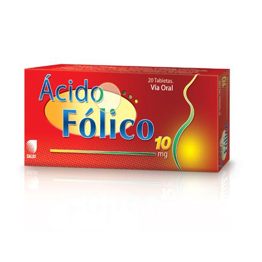 Ácido Fólico Calox 10mg X 20 Tabletas Calox X 20 Tabletas