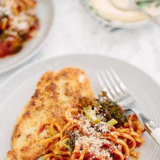 Gluten Free Chicken Milanese with Spiralized Broccoli