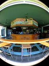 Photo: The Casava Terrace bar, the heart of everything around dinnertime.