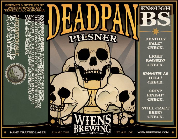 Logo of Wiens Deadpan Pilsner