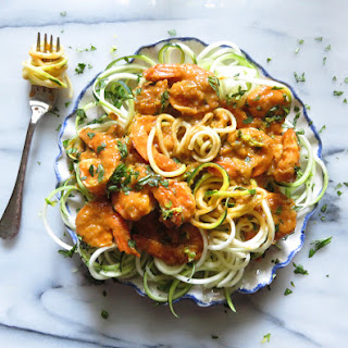 Da Bomb Spicy Shrimp and Zoodles.