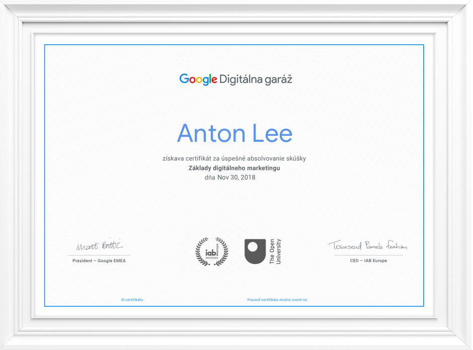 Prečo získať certifikát
