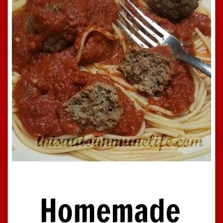 Homemade Sugar Free Spaghetti Sauce.