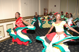 Photo: A cultural presentation given by The National Dance Company Guyana