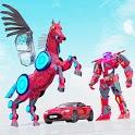Flying Horse Robot Car: Super Car Robot Games icon