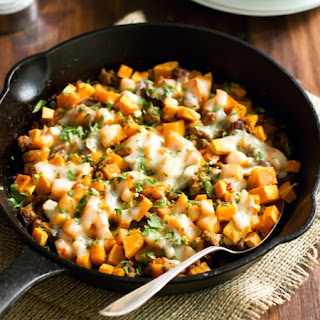 Ground Turkey Sweet Potato Skillet.