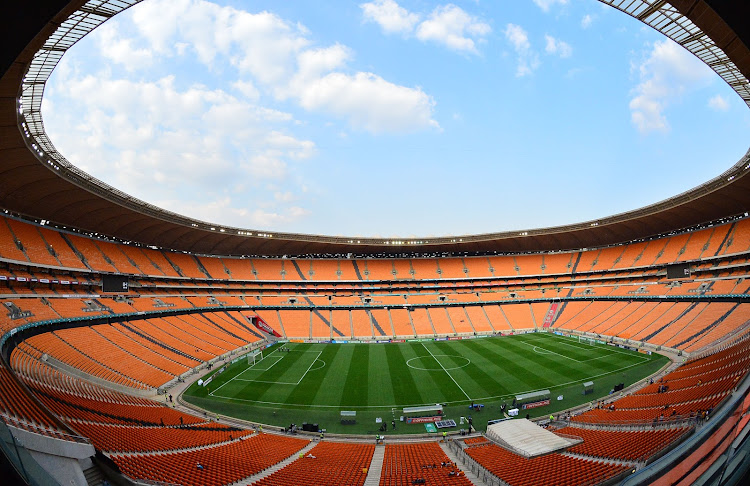 General view of the FNB Stadium in Soweto, south of Johannesburg.