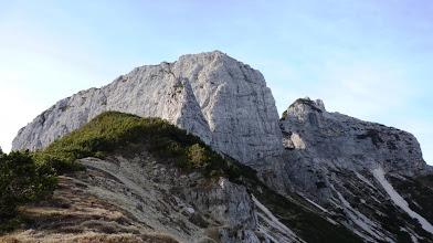 Photo: levo Vršič s sedla Čez Stože,desno greben V. Grintavca