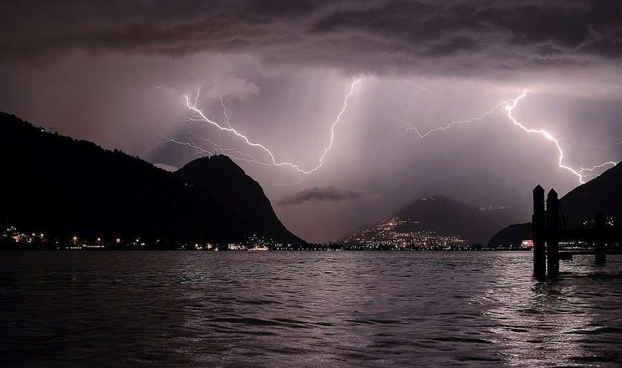 The day after... by Alex Polli - Landscapes Weather ( lightning, thunderstorm, heavy, storm, rain )