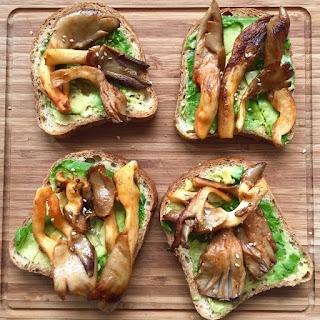 Chili (Gochujang) Mushroom and Avocado Toastie.