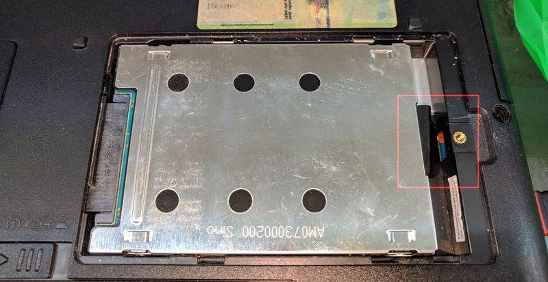 disco duro de un portátil